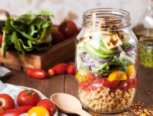 Jar of fruits and vegetables